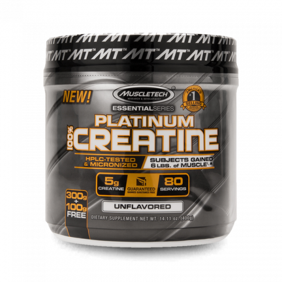 PLATINUM 100% CREATINA MICRONIZED (400G) MUSCLETECH MUSCLETECH