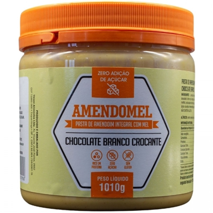 Amendomel Pasta de Amendoim (1kg) Chocolate Branco Crocante - Thiani