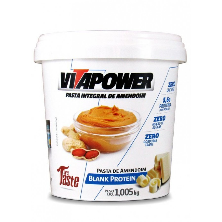 Pasta de Amendoim (1kg) - Vitapower-Chocolate Branco