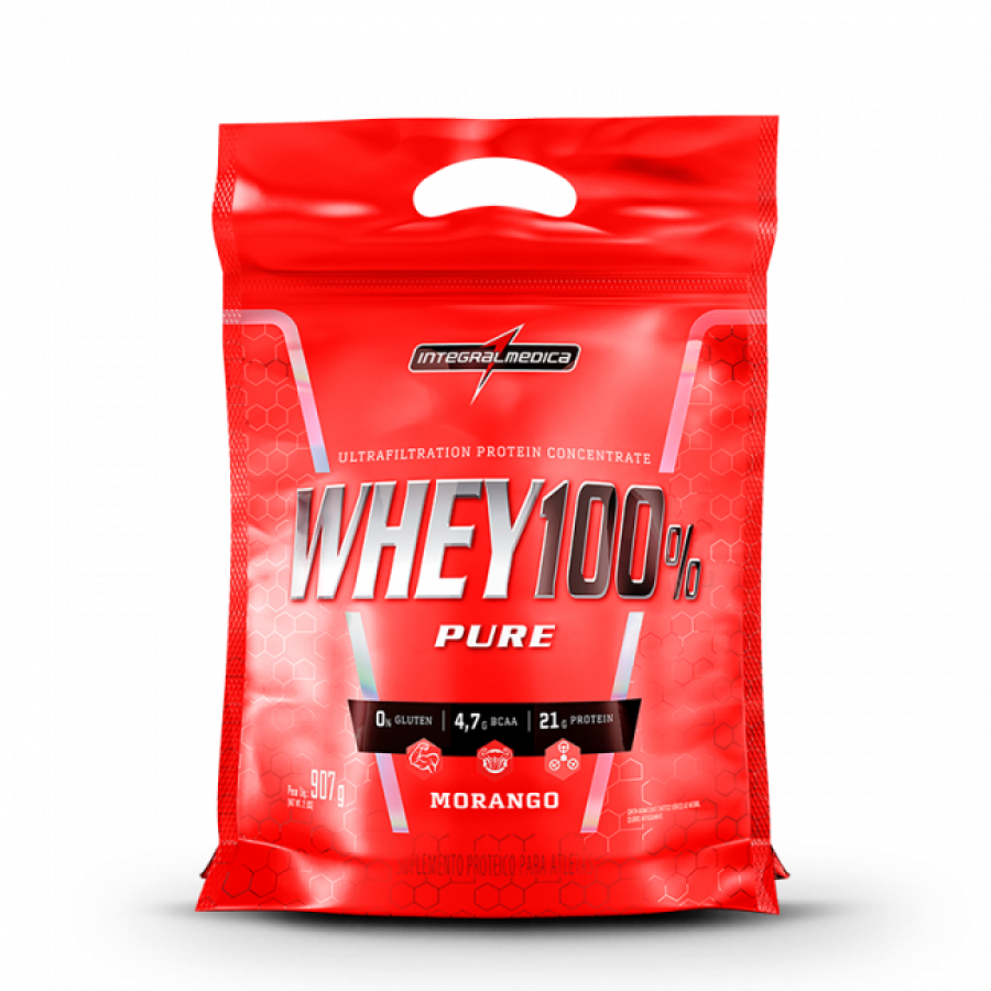 SUPER WHEY 100% PURE (REFIL-907G) INTEGRALMEDICA